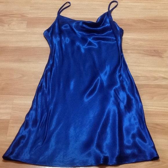 Saphire blue slip dress